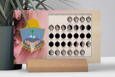 Calendario con Lunas de la Provincia de Neuquén