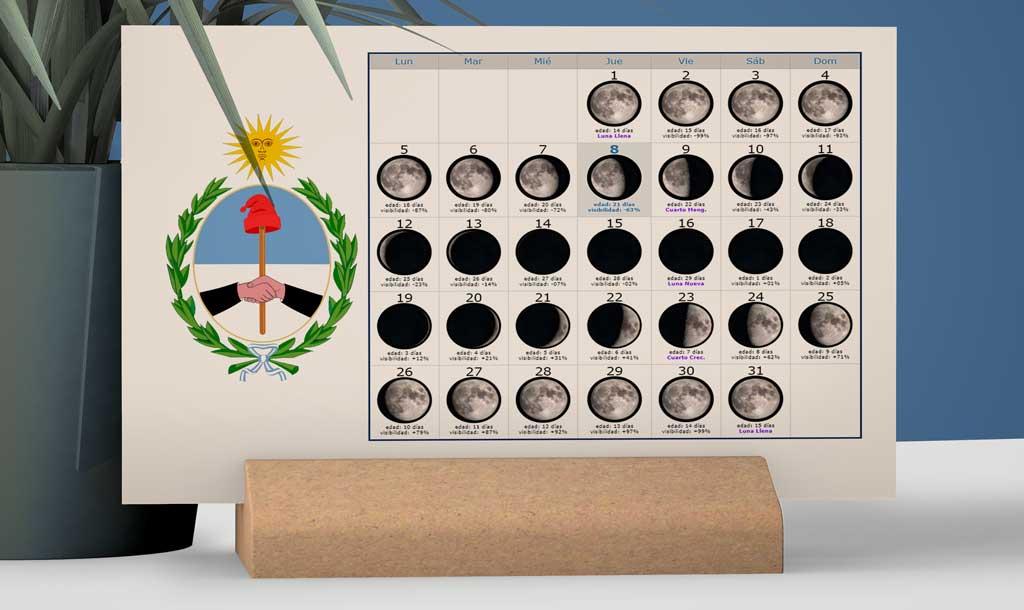 Calendario con Lunas para la Pesca en la provincia de San Juan