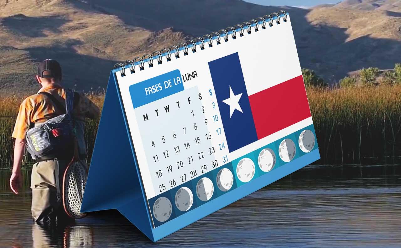 Tabla solunar para la pesca en Texas