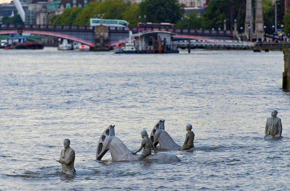 The Horsemen on the Thames (England) Pleamar