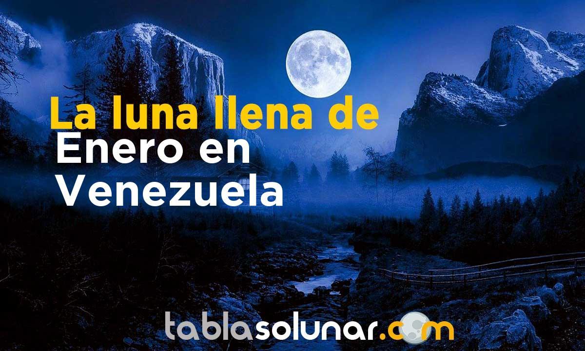 Luna llena de Enero de 2021 en Venezuela