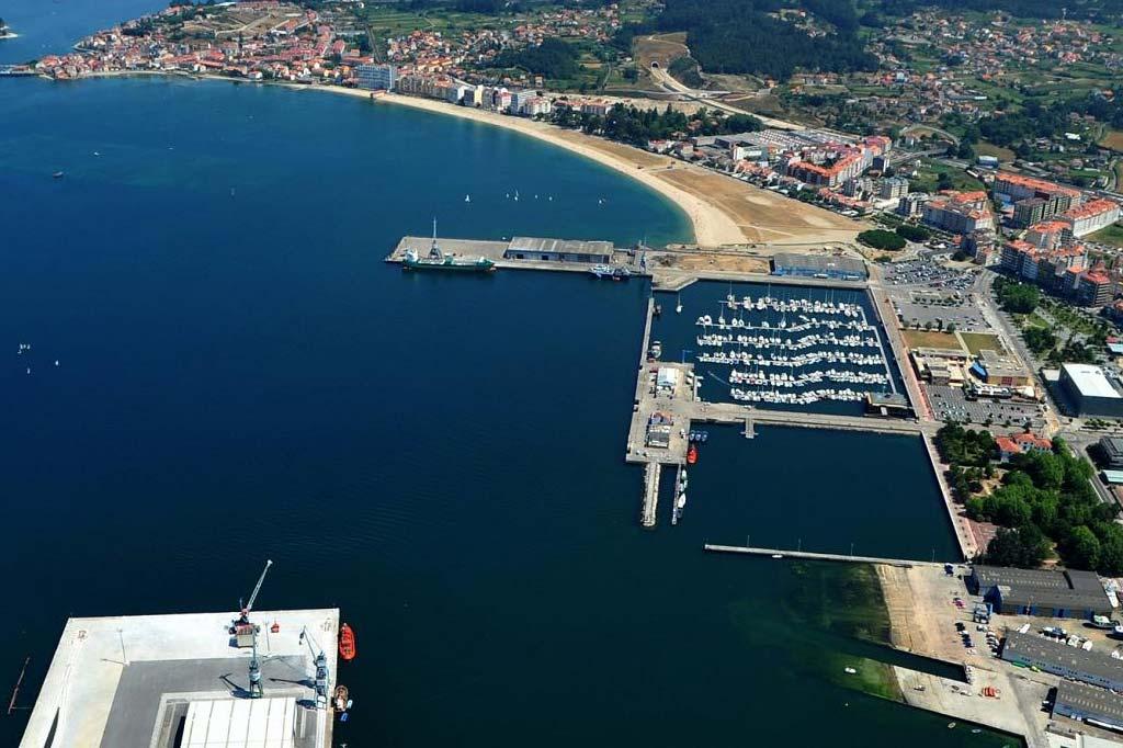 Mareas Puerto de Villagarcía de Arousa, Vista general del Puerto