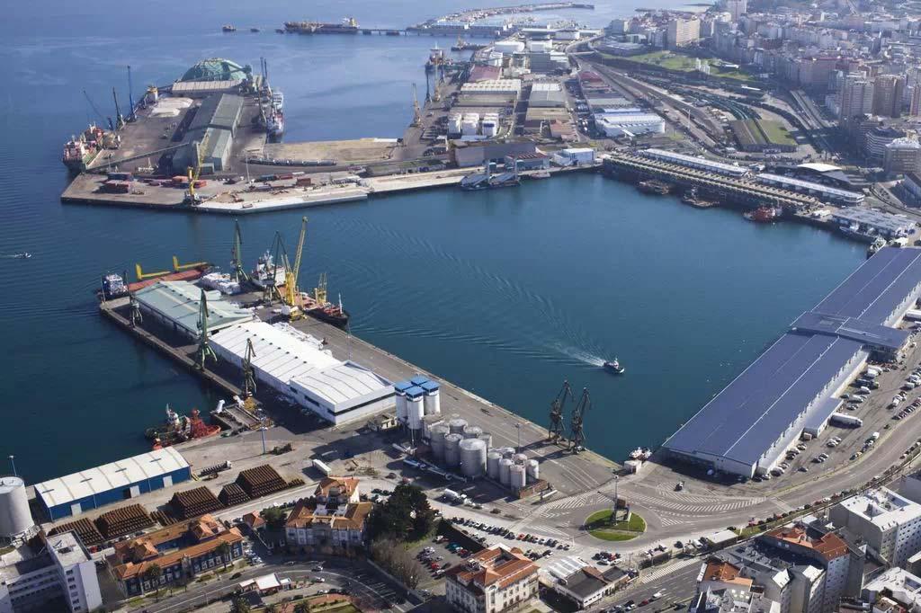 Vista General del Vista-General-Puerto-de-A-Coruña