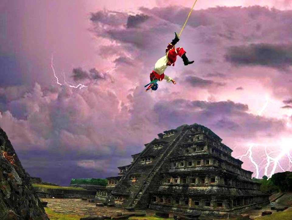Voladores en Tajín en el Equinoccio de Marzo