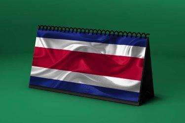 Calendario Lunar bandera-de-costa-rica