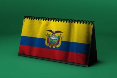 Calendario lunar agosto de 2020 en Ecuador