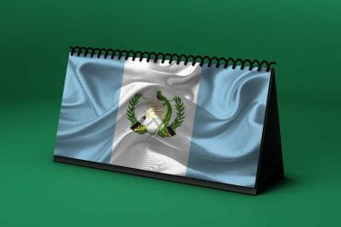 Calendario lunar octubre de 2020 en Guatemala
