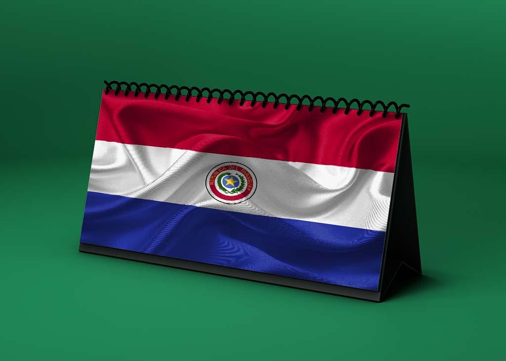 Calendario lunar abril de 2021 en Paraguay