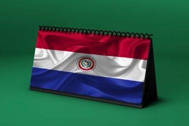 Calendario Lunar bandera-de-paraguay
