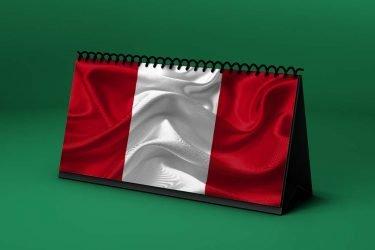 Calendario Lunar bandera-de-peru