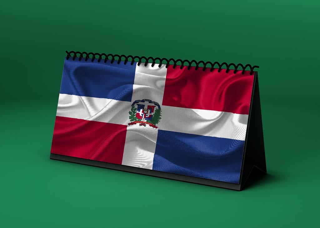 Calendario Lunar bandera-de-republica-dominicana
