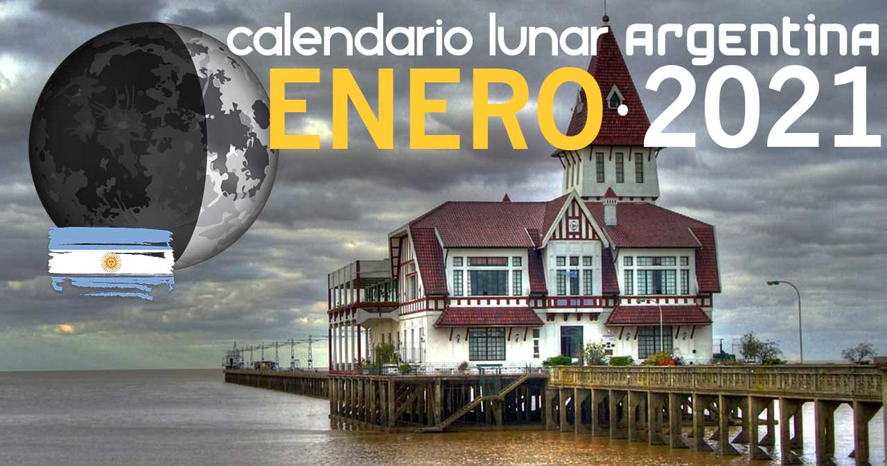 Calendario lunar enero de 2021 en Argentina
