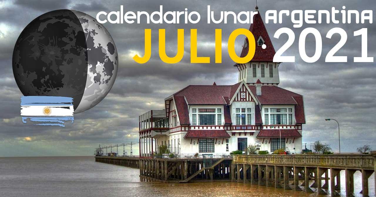 Calendario lunar julio de 2021 en Argentina
