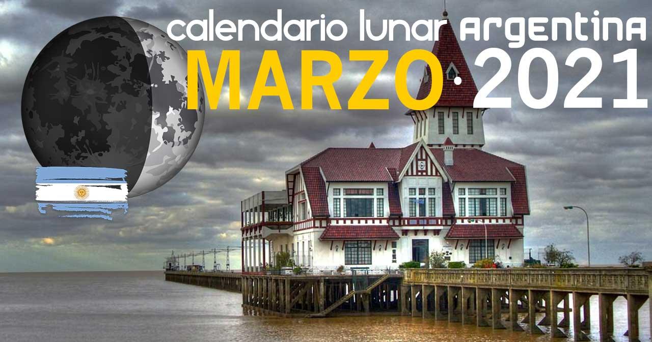 Calendario lunar marzo de 2021 en Argentina