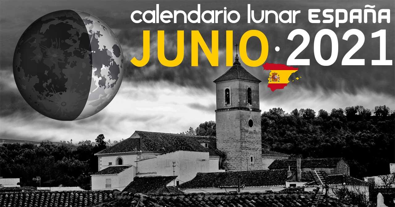 Calendario lunar junio de 2021 en España