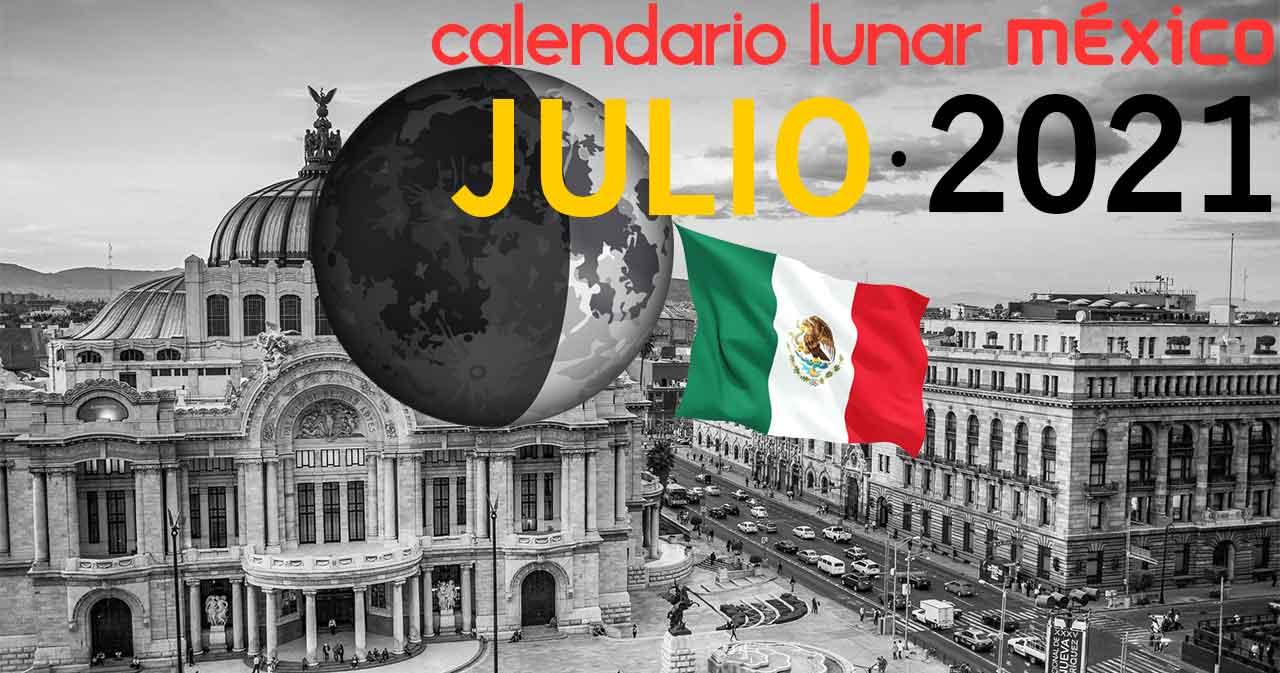 Calendario lunar julio de 2021 en México