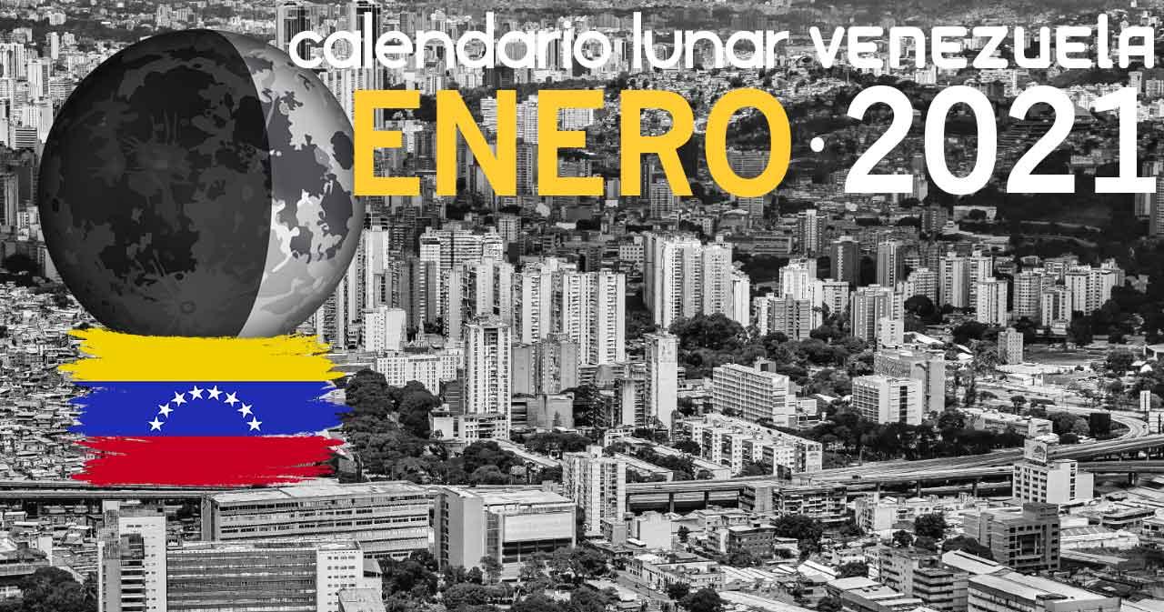 Calendario lunar enero de 2021 en Venezuela