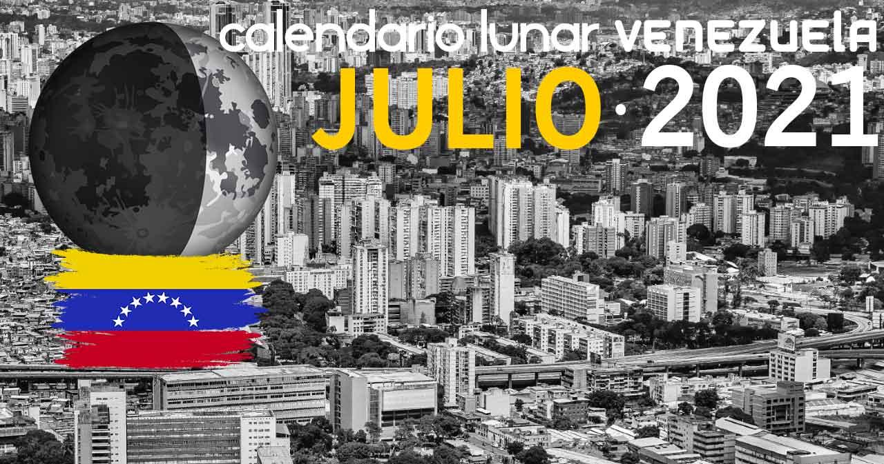 Calendario lunar julio de 2021 en Venezuela