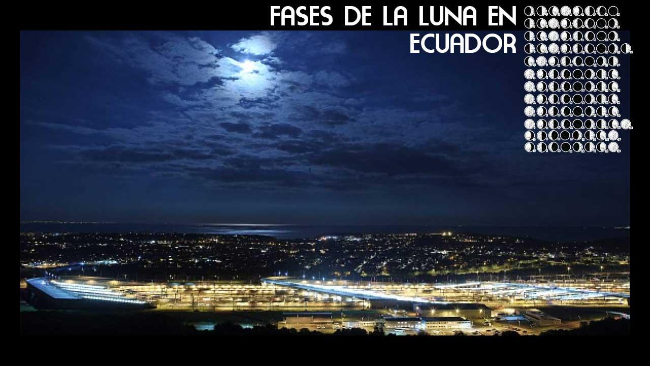 Skyline de Quito. Calendario Lunar de Ecuador.