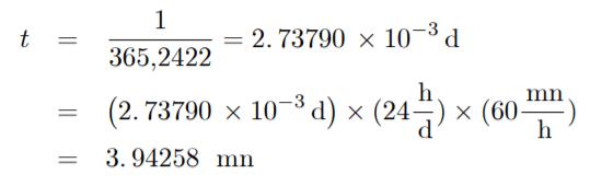 Fórmula para constelaciones. Medir el Tiempo