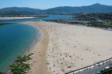 Vista general de Plage Hondarribia