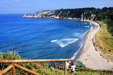Vista general de Playa de Barayo