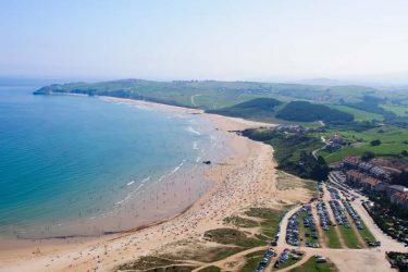 Vista general de Playa de Merón