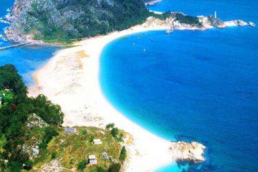 Vista general de Playa de Rodas
