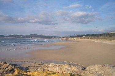 Vista general de Praia de Anquieiro
