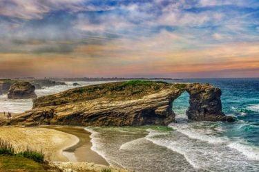 Vista general de Praia de Augasantas