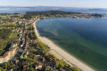 Vista general de Praia de Barraña
