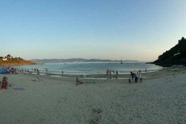 Vista general de Praia de Canelas