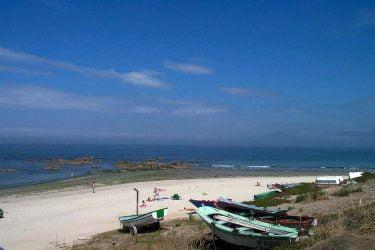 Vista general de Praia de Coruxo