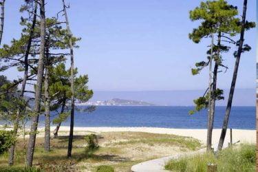 Vista general de Praia de Lago