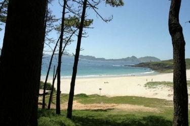 Vista general de Praia de Melide