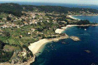 Vista general de Praia de Pipín