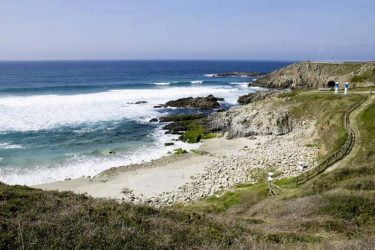 Vista general de Praia de Repibelo