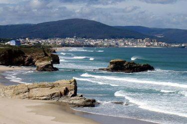 Vista general de Praia de San Cosme de Barreiros