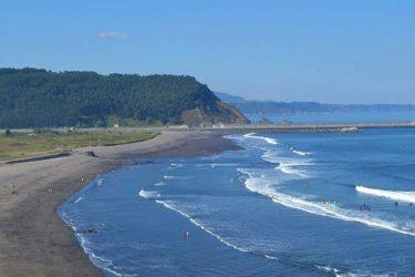 Vista general de Praia de San Xurxo