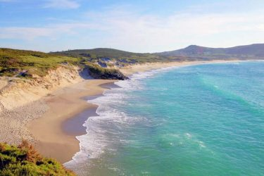 Vista general de Praia de Santa Comba