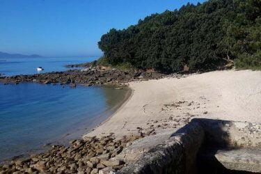 Vista general de Praia de Temperáns