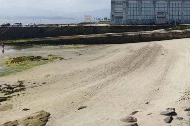 Vista general de Praia do Salgueirón